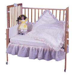 carnation eyelet port a crib bedding